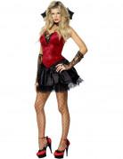 Vampirin Blutsaugerin Halloween Damenkostüm schwarz-rot