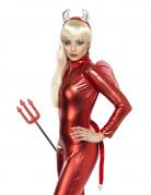 Teufel Kostüm-Set Halloween Damenkostüm rot