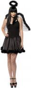 Fallen Angel Engel Damen-Kostüm schwarz