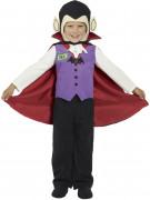 Mini Monsters Vampir Kinder-Kostüm lila-schwarz-rot-weiss
