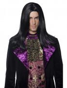 Viktorianischer Vampir Perücke schwarz