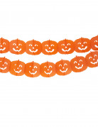 Kürbis Girlande Halloween Party-Deko schwer entflammbar orange 300x19,5cm