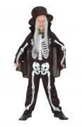 Skelett Overall Anzug Knochen Halloween Kinderkostüm schwarz-weiss