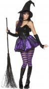 Rebel Toons Bezauberne Hexe Damen-Kostüm schwarz-lila