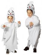 Gespenster-Kostüm für Kinder weiss-schwarz-rot