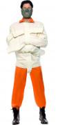 Zwangsjacke Halloween-Kostüm Psycho beige-orange