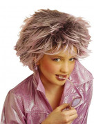 Kinderperücke Superstar Kostüm-Zubehör rosa