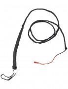 Peitsche geflochten Kostümzubehör schwarz 180 cm