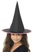 Hexenhut für Kinder schwarz-lila