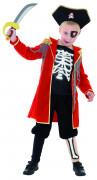 Geister Pirat Skelett Kinder-Kostüm rot-schwarz