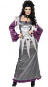 Vampire Geister Braut Damen-Kostüm grau-lila