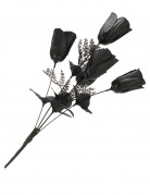 Rosen-Bouquet Halloween-Party-Deko schwarz 20cm