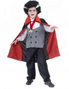 Kleiner Vampirgraf Halloween-Kinderkostüm grau-schwarz-rot