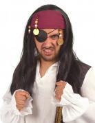Piratenkönigin Perücke schwarz-rot