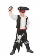 Gefährliches Piratenkostüm für Jungen schwarz-weiss