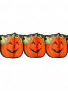 Lachender Kürbis Girlande Halloween Party-Deko orange-schwarz 300x19cm