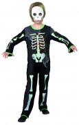 Skelett Punk Junge Kinder-Kostüm schwarz-weiss