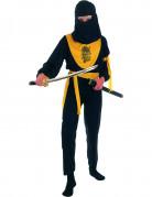 Ninjakrieger-Kostüm für Kinder Drachen-Motiv schwarz-gelb