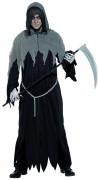 Sensenmann Halloween-Kostüm Tod schwarz-grau