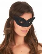 Augenmaske Venezianische Maske für Erwachsene schwarz