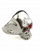 Toten-Kopf Ring für Herren Kostümaccessoire silber