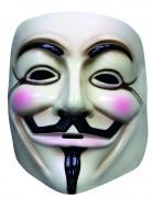V wie Vendetta™-Maske Lizenzartikel beige-schwarz