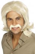 Siebziger Perücke Kostüm-Zubehör blond