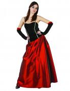 Anmutige Vampir-Lady Halloween Kostüm für Frauen schwarz-rot