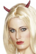 Teufelshörner Haarclips rot