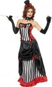 Vampire Horrorlady Damen-Kostüm schwarz-weiß-rot