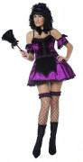 Gothic Hausmädchen Dienerin Damenkostüm schwarz-lila