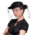 Schwarze Witwe Halloween Damenhut schwarz