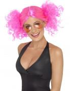 80er Jahre Disco Perücke pink