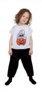 Süßer Kinder-Jumpsuit Geist und Kürbis Halloweenkostüm schwarz-weiss