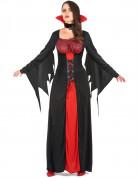 Edle Vampirgräfin Halloween-Damenkostüm schwarz-rot