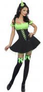 Süsse Zauberin Hexe Halloween Damenkostüm schwarz-grün