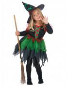 Kleine Hexe Kinderkostüm schwarz-grün-braun