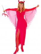 Höllische Teufelin Halloween Kostüm für Damen rot