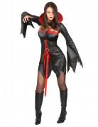 Verführerische Vampirin Halloween-Damenkostüm schwarz-rot