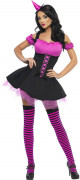 Wicked Witch Halloween Damen Kostüm pink