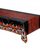 Piraten-Tischdecke mit Totenkopf schwarz-bunt 120x180cm