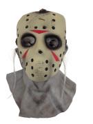 Jason Vorhees Halloween-Masken Lizenzartikel beige-rot-grau