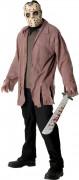 Jason™-Kostüm für Halloween Killer-Kostüm braun-beige