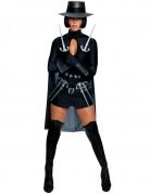 V wie Vendetta™-Damenkostüm Filmkostüm schwarz