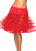 Mehrlagiger Petticoat für Damen rot