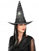 Hexenhut Kostüm-Zubehör schwarz-silber