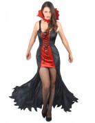 Sexy Vamprin Halloween-Damenkostüm schwarz-rot