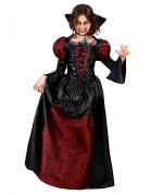 Vampirgräfin-Kinderkostüm Halloweenkostüm rot-schwarz