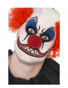 Horror-Clown Make-Up-Set Halloween weiss-blau-rot