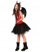 Teufelinnen Halloween Kinder-Kostüm rot-schwarz
